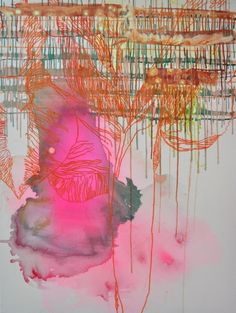 Seet van Hout | Nouvelles Images acrylic paint and embroidery on canvas