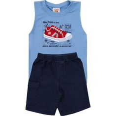 Conjunto Jeans Infantil Masculino com Regata Azul - Nini & Bambini :: 764 Kids | Roupa bebê e infantil