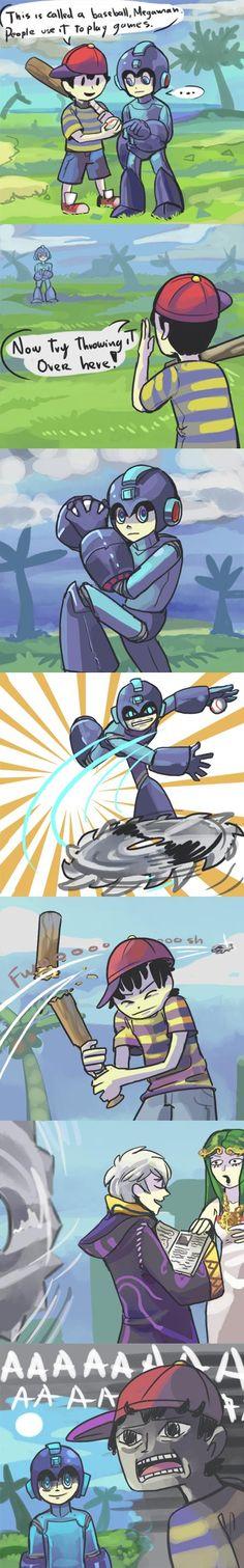 I love kids (part 1) i had a feeling megaman would do something like that..lol gotta love him though