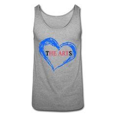 I Heart The Arts Grey Unisex Tee