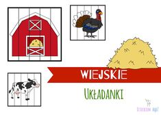 Puzzle wieś, układanki wiejskie podwórko Puzzle, Playing Cards, Signs, Blog, Playing Card Games, Novelty Signs, Puzzles, Sign, Blogging
