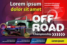 Poster or print ads off road championship — Stock Vector © msjeje #138812570