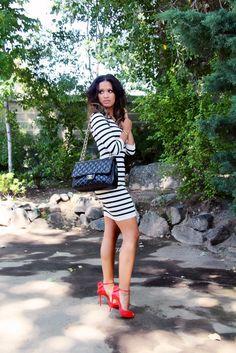 Rocsi Diaz in Intermix, Chanel & Louboutins