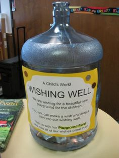 Water jug coin drop for fundraising