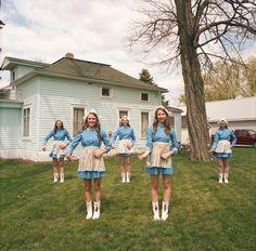 Naomi Harris- Dutch cheerleaders, tulip festival, Orange City Iowa, 2014.