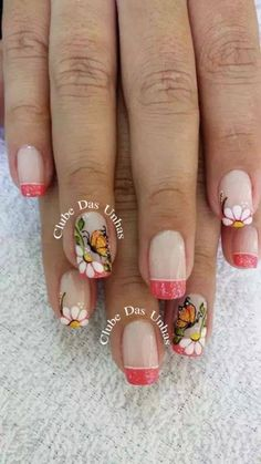 The only nail that I like is thepinky May Nails, Nails Only, Trendy Nails, Cute Nails, Acryl Nails, Pretty Nail Art, French Tip Nails, Manicure E Pedicure, Shellac Nails