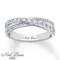 Neil Lane Anniversary 5/8 ct tw Diamonds 14K White Gold Band