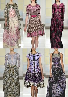 Art Deco – Parquet Inspired – Geometric Floral Mix Up – Juxtaposing Layers – Bright Florals – Sugary Pastels – Acid Pinks – Fractured Looks ...