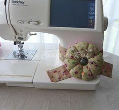 La casita de rosa: Acerico con banda para la maquina de coser.Tutorial
