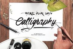 DIY Calligraphic Brush Kit by re.source on @creativemarket