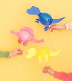 how to make a dinosaur balloon