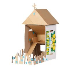 Dollhouse made from cardboard boxes and makedo clips - must get some of these!