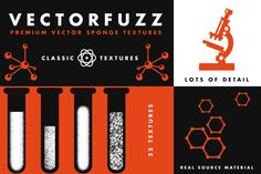 VectorFuzz Illustrator Brushes by RetroSupply Co. on Creative Market