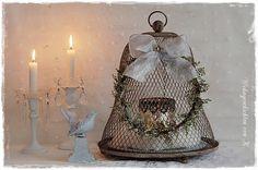 Adventskranz  ~* Shabby *~  von Wohngeschichten von K. auf DaWanda.com