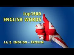 top1500 ANGOL SZÓ - 25/16. ÉRZELEM 1. (KVÍZ link a leírásban!) - YouTube English Words, Learn English, Make It Yourself, Education, Youtube, Link, Learning English, Onderwijs, Learning