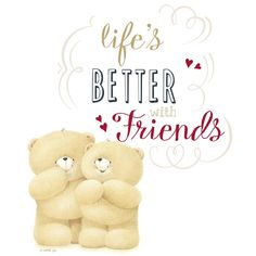 Friends make life so much better! Cute Teddy Bear Pics, Teddy Bear Pictures, Friends Forever, Signage, Cute Pictures, Congratulations, Happy Birthday, Messages, Quotes