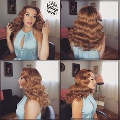 "2,988 Likes, 92 Comments - Tony Medina- Hairstylist (@hisvintagetouch) on Instagram: ""Here it is! The full view look of these soft, loose #RitaHayworth inspired waves! Modeled by this…"""