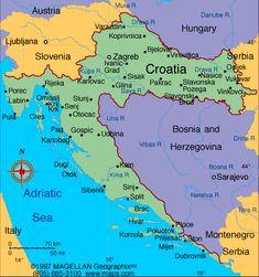 Croatia Atlas: Maps and Online Resources | Infoplease.com