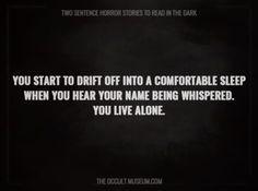 Terrifying Two Sentence Horror Stories