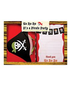 Pirate Invitation & Thank You Card Set by Meri Meri #zulily #zulilyfinds