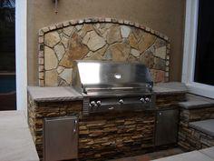 Outdoor Kitchen by Brandel Masonry in Parkland, FL.