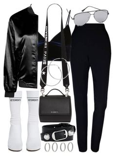 """Untitled #21150"" by florencia95 ❤ liked on Polyvore featuring Plakinger, Vetements, T By Alexander Wang, Boohoo, Givenchy, Balenciaga, Quay, Melissa Odabash and Forever 21"