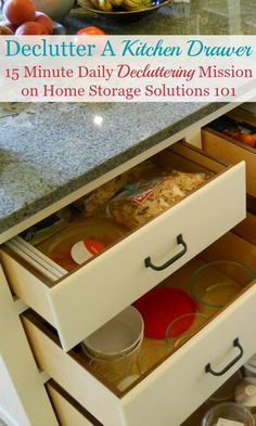 How to declutter kitchen drawers, with step by step instructions {on Home Storage Solutions 101}