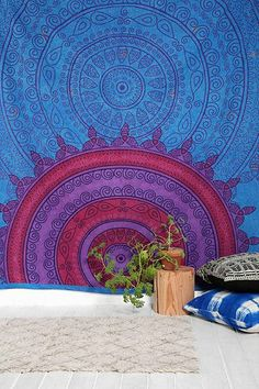Magical Thinking Sunrise Medallion Tapestry. Beautiful vibrant colors!