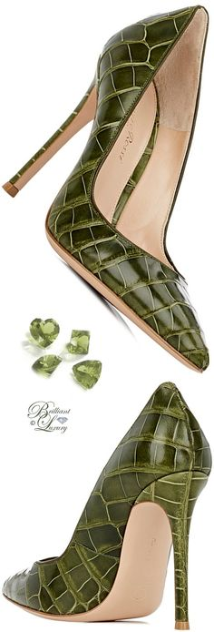 Brilliant Luxury by Emmy DE ♦ Gianvito Rossi 'Gianvito' Alligator Pumps