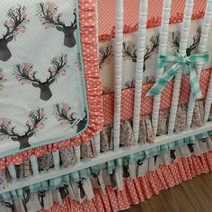 The bedding I finally decided on for the nursery! Country Baby Nurseries, Country Baby Rooms, Country Babies, Baby Girl Bedding, Baby Bedding Sets, Deer Bedding, Nursery Themes, Nursery Room, Bedroom