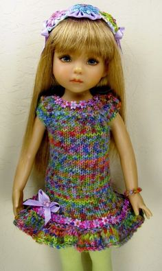 """Dianne Effner Little Darling 13"""" Doll OOAK Hand Knit Quality Fashion ~by Janet #ClothingAccessories"""