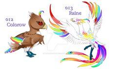 Fakemon: Rainbow Birds [New Version] by Blue-Hearts