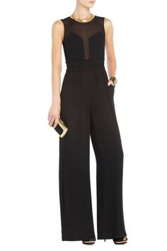 Evening dresses outlet, 2013 fashion style of Bcbgmaxazria Kiara . Black Jumpsuit Outfit, Lace Jumpsuit, Wide Leg Pants, Evening Dresses, My Style, How To Wear, Clothes, Wedding Outfits, Wedding Shoes
