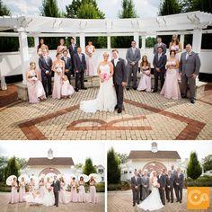 Bridal party XOXO! At Danada House, Wheaton, IL
