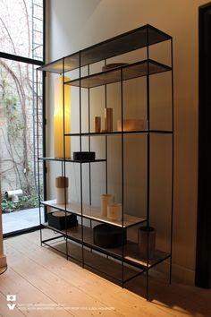 Deco Furniture, Metal Furniture, Furniture Design, Home Room Design, Living Room Designs, House Design, Rack Design, Shelf Design, Etagere Design