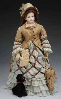 Lot: 80: Jumeau Poupee Peau Fashion Lady Doll, Lot Number: 0080, Starting Bid: $1,000, Auctioneer: Dan Morphy Auctions, Auction: August 13 Auction, Date: August 13th, 2009 EDT