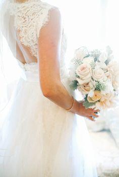Lace prettiness: http://www.stylemepretty.com/little-black-book-blog/2015/01/13/elegant-ashford-estate-ballroom-wedding/   Photography: Kay English - http://www.kayenglishphotography.com/