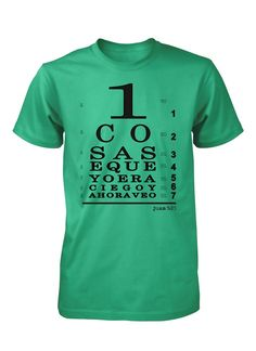 Ahora veo con Jesus Camiseta Cristiana (http   www.aprojes.com 94167e4efab48
