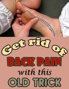 We can prevent back pain successfully only with a feet massage. An European study, with 50 nurses, showed that this massage significantly reduces spine pain. Douleur Nerf, Low Back Pain Relief, Back Spasm Relief, Yoga Training, Sciatica Relief, Back Pain Exercises, Arthritis Exercises, Lower Back Pain Remedies, Severe Lower Back Pain