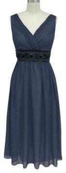 Katherine Styles Beaded Chiffon Dress