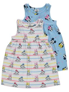 Made in pure cotton fabric, this 2 pack of Disney Minnie Mouse jersey dresses will make a charming addition to their mini wardrobe. Cute Baby Girl, Cute Babies, Baby Baby, Disney Clothes, Disney Outfits, Peppa Pig Outfit, Kids Pjs, Little Girl Fashion, Latest Fashion For Women