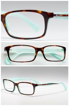 Aqua  tortoise shell Ralph by Ralph Lauren glasses. Two of my favourites!