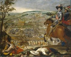 The Victory of Fleurus // Vincenzo Carducci (1578–1638)  [The Battle of Fleurus of August 29, 1622 was fought between a Spanish army, and the Protestant Powers of the Holy Roman Empire (Baden-Durlach, Brunswick-Lüneburg  ) in the Thirty Years' War. The bloody struggle left the Protestants mangled and the Spanish masters of the field. http://en.wikipedia.org/wiki/Battle_of_Fleurus_%281622%29 ]