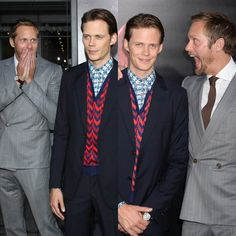 Loving the Skarsgård brothers on the It Movie black carpet last night! Alex & Gustaf showing their brotherly love & support for Bill Skarsgård at the premiere of his star-making film, It, September 5,...
