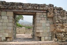 Copan ruins has the most significant Mayan hieroglyphs recovered, as noted on this door