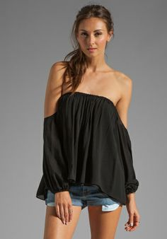 BOULEE Audrey Top in Black at Revolve Clothing - Free Shipping!