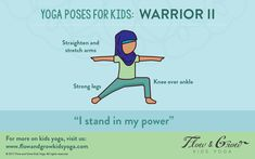 Warrior 2 Pose Empowerment Flow and Grow Kids Yoga Warrior Pose Strong Kids Yoga Inclusion All children