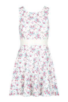 Weißes Kleid mit Muster TALLY WEiJL