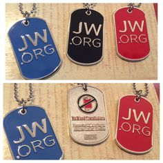 JW.org ID tags with no blood transfusion information on backside. Available in 3 colors. #jworg www.jwstuff.org