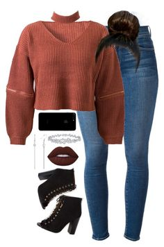 """""""10.14.16"""" by mcmlxxi ❤ liked on Polyvore featuring Frame Denim, WithChic, Lime Crime and Harry Winston"""